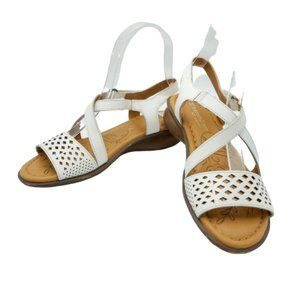 Naturalizer Janessa N5 White Leather Sandals 5M